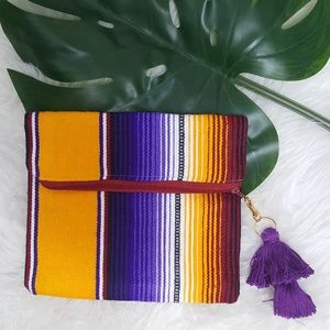 Handbags - Taco Clutch with Tassle Charm Zipper